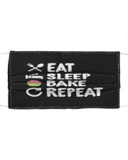 Eat Sleep Bake Repeat Bakery Funn Cloth face mask thumbnail