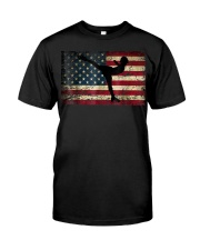 American Flag Figure Skater Classic T-Shirt front