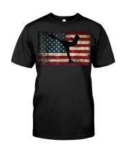 American Flag Figure Skater Premium Fit Mens Tee thumbnail