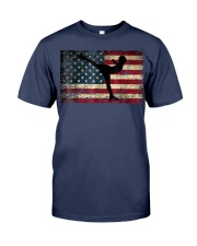 American Flag Figure Skater Premium Fit Mens Tee front