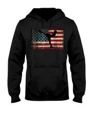 American Flag Figure Skater Hooded Sweatshirt thumbnail