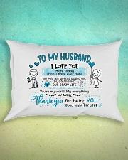 Sweet gift to your husband Rectangular Pillowcase aos-pillow-rectangle-front-lifestyle-3