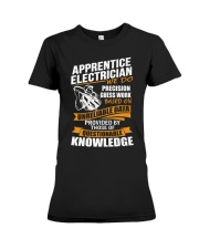 Apprentice Electrician We Do Precision Premium Fit Ladies Tee thumbnail