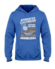 Apprentice Electrician We Do Precision Hooded Sweatshirt front