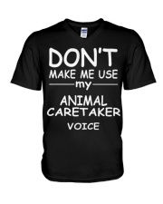 Animal Caretaker Tshirt My Animal Car V-Neck T-Shirt thumbnail
