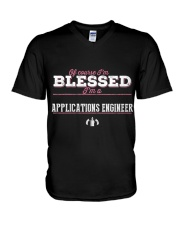 Applications Engineer Of Cour V-Neck T-Shirt tile