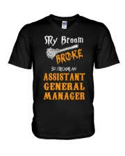 Assistant General Manager 093922 V-Neck T-Shirt tile