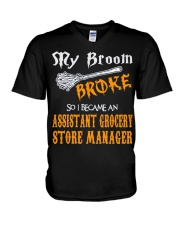 Assistant Grocery Store Manager 1 V-Neck T-Shirt thumbnail