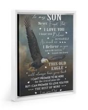 THIS OLD EAGLE - BEST GIFT FOR SON FROM DAD Floating Framed Canvas Prints White tile
