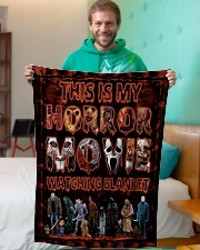 """LIMITED EDITION Small Fleece Blanket - 30"""" x 40"""" aos-coral-fleece-blanket-30x40-lifestyle-front-09"""
