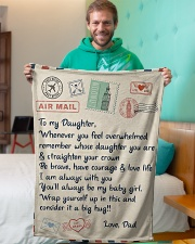 """To My Daughter Blanket Small Fleece Blanket - 30"""" x 40"""" aos-coral-fleece-blanket-30x40-lifestyle-front-09"""