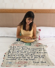 """To My Daughter Blanket Small Fleece Blanket - 30"""" x 40"""" aos-coral-fleece-blanket-30x40-lifestyle-front-12"""