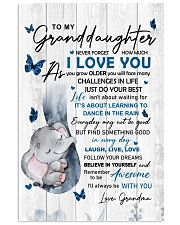 To Granddaughter Never Forget How Much I Love You 11x17 Poster front