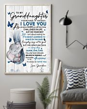 To Granddaughter Never Forget How Much I Love You 11x17 Poster lifestyle-poster-1