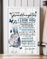 To Granddaughter Never Forget How Much I Love You 11x17 Poster lifestyle-poster-4