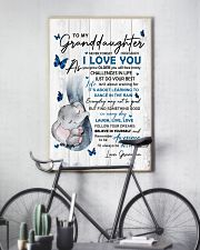To Granddaughter Never Forget How Much I Love You 11x17 Poster lifestyle-poster-7
