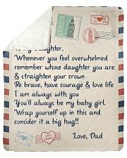To My Daughter Blanket Sherpa Fleece Blanket tile