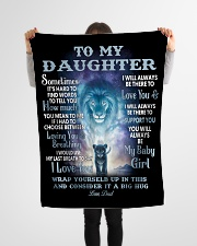 """To My Daughter Blanket Small Fleece Blanket - 30"""" x 40"""" aos-coral-fleece-blanket-30x40-lifestyle-front-14"""