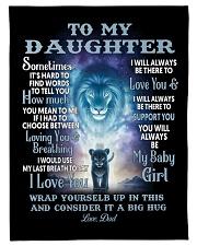 """To My Daughter Blanket Small Fleece Blanket - 30"""" x 40"""" front"""