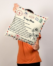 """TO MY MOM PILLOW - I LOVE YOU MOM Indoor Pillow - 16"""" x 16"""" aos-decorative-pillow-lifestyle-front-02"""