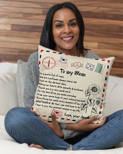 """TO MY MOM PILLOW - I LOVE YOU MOM Indoor Pillow - 16"""" x 16"""" aos-decorative-pillow-lifestyle-front-11"""