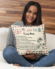 """TO MY MOM PILLOW - I LOVE YOU MOM Indoor Pillow - 16"""" x 16"""" aos-decorative-pillow-lifestyle-front-13"""
