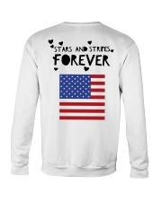 Stars and Stripes Forever - Design on Back Crewneck Sweatshirt thumbnail
