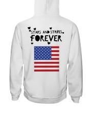 Stars and Stripes Forever - Design on Back Hooded Sweatshirt thumbnail