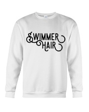 Swimmer Hair Don't Care - Front and Back Crewneck Sweatshirt thumbnail