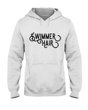 Swimmer Hair Don't Care - Front and Back Hooded Sweatshirt thumbnail