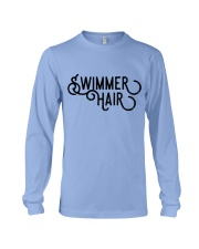 Swimmer Hair Don't Care - Front and Back Long Sleeve Tee front