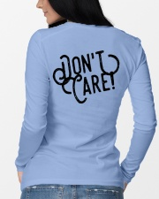 Swimmer Hair Don't Care - Front and Back Long Sleeve Tee lifestyle-unisex-longsleeve-back-3