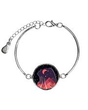 FreeWoman Art Work - black edition - Metallic Circle Bracelet thumbnail