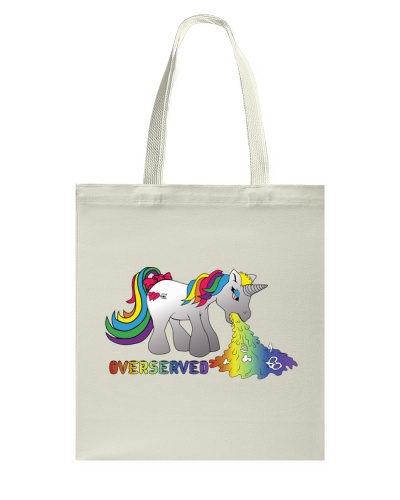 Over Served Unicorn Tote Bag