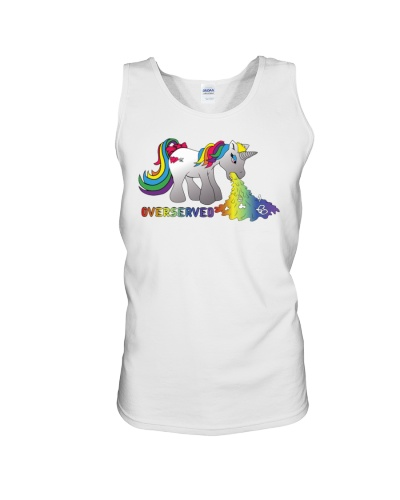 Over Served Unisex Tank Top