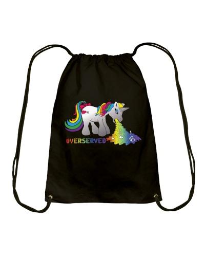 Over Served Drawstring Backpack