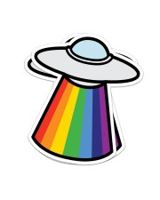 Ovni Rainbow Sticker - 2 pack (Vertical) front