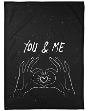 "You and Me Large Fleece Blanket - 60"" x 80"" front"