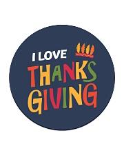 I love Thanksgiving Circle Coaster thumbnail