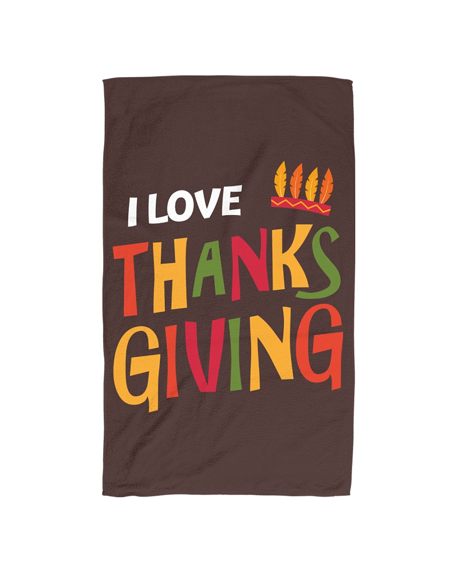 I love Thanksgiving Hand Towel