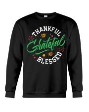 Thankful Grateful  Blessed Crewneck Sweatshirt thumbnail