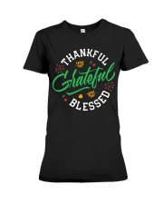 Thankful Grateful  Blessed Premium Fit Ladies Tee thumbnail