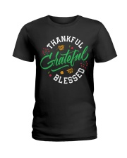 Thankful Grateful  Blessed Ladies T-Shirt tile