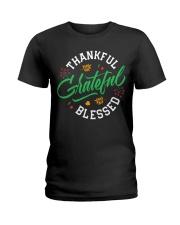 Thankful Grateful  Blessed Ladies T-Shirt thumbnail