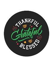 Thankful Grateful  Blessed Circle Coaster thumbnail