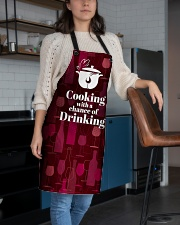 Cooking With a Chance of Drinking Apron aos-apron-27x30-lifestyle-front-02