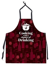 Cooking With a Chance of Drinking Apron front