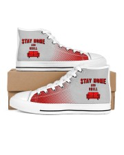 Stay Home and Chill Men's High Top White Shoes thumbnail