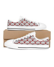 Stay Home and Chill Men's Low Top White Shoes thumbnail