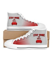 Stay Home and Chill Women's High Top White Shoes thumbnail